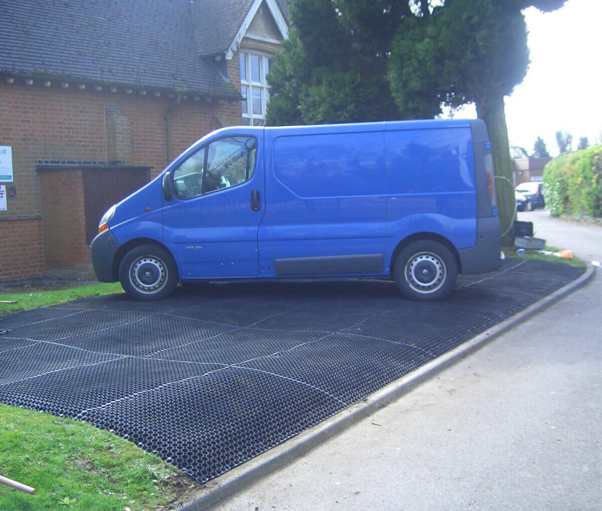Rubber mat for outdoor