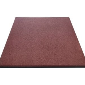 Red rubber crumb tile