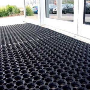 Entrance mat with the holes