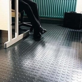 Black rubber for workplace